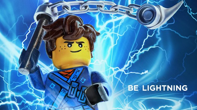 Another one of the LEGO Ninajo Movie characters is Jay, who has lightning powers!