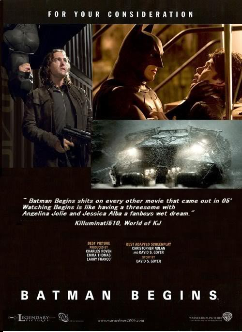 These Campaigns Produced Mixed Results With The Dark Knight Rises And Man Of Steel Securing No Nominations Superman Returns Batman Begins