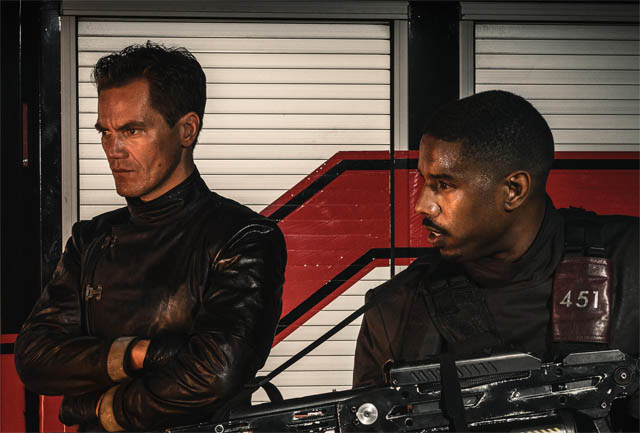 First look at Michael B. Jordan and Michael Shannon in Fahrenheit 451