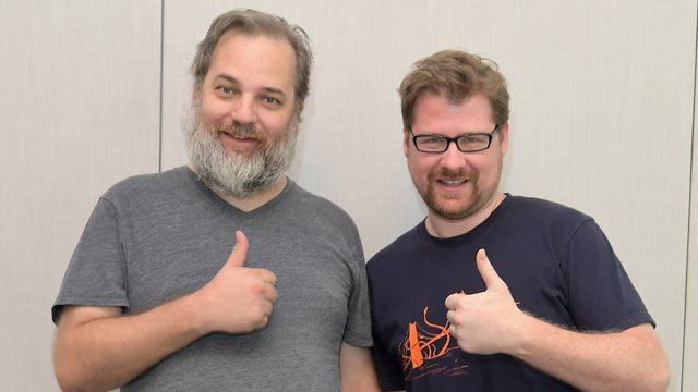 Sit down with Rick and Morty's Dan Harmond and Justin Roiland. Justin Roiland voices both Rick and Morty.