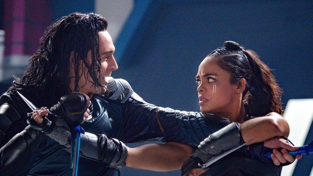 Loki and Valkyrie Take a Stab at Being Friends in New Thor Photo