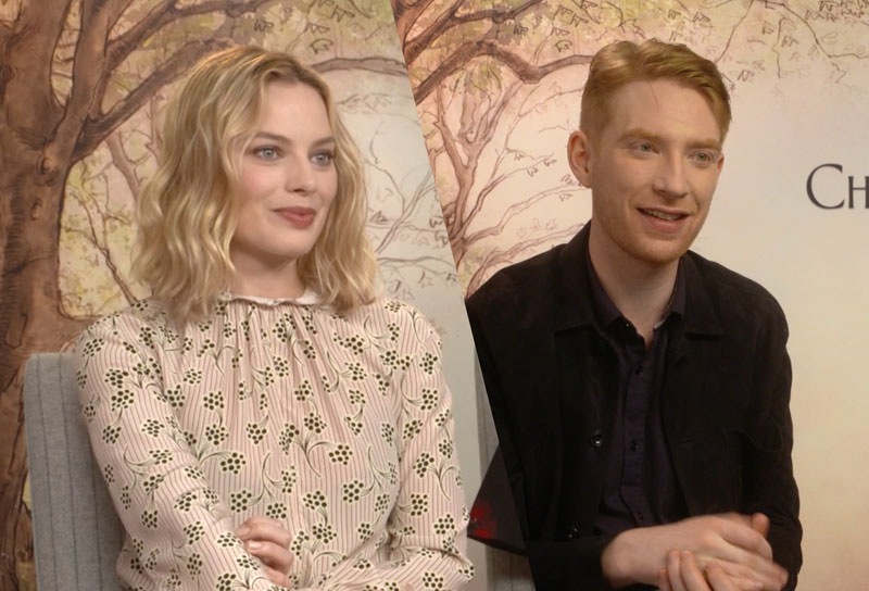 CS Video: Gleeson, Robbie and the Goodbye Christopher Robin Cast