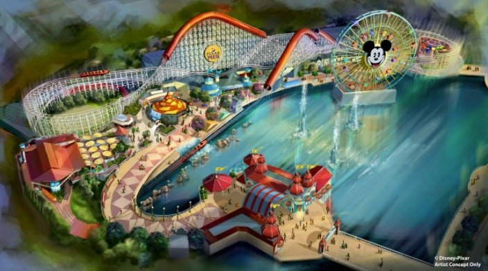 Pixar Pier to open in 2018 at Disney's California Adventure Park with Incredibles-inspired Incredicoaster