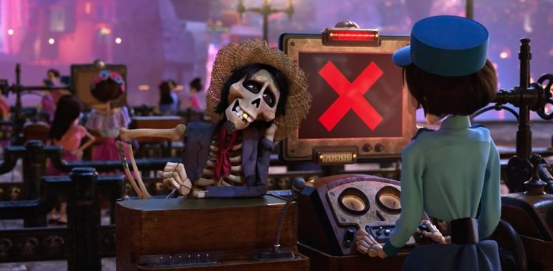 Watch Hector try to slip through the Land of the Dead's version of the TSA in a new Coco clip