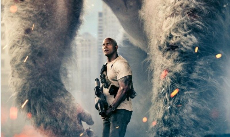 Dwayne Johnson tweets a new Rampage poster and info for tomorrow's trailer