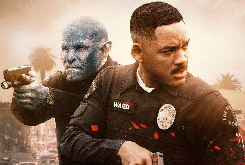 The New Bright Poster Featuring Will Smith and Joel Edgerton