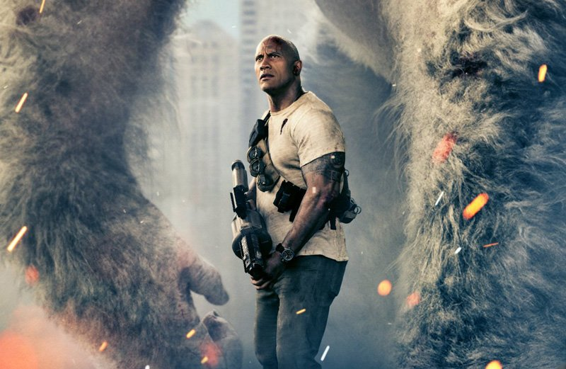 Dwayne Johnson Tweets a New Scene from Rampage