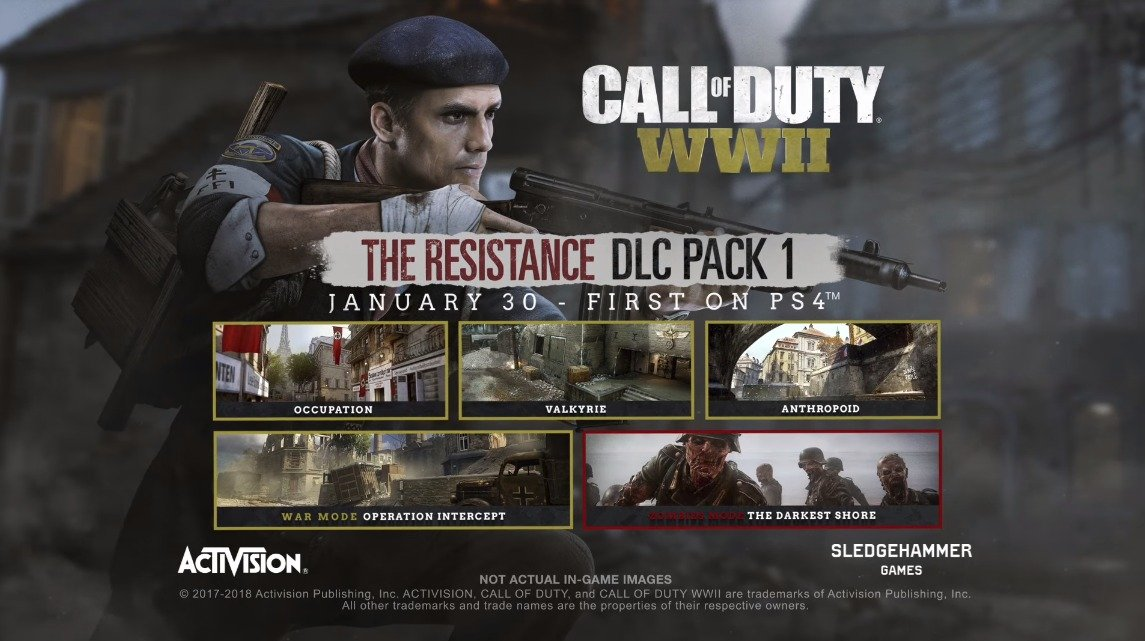 First Look at Call of Duty: WWII DLC Pack 1 - The Resistance!