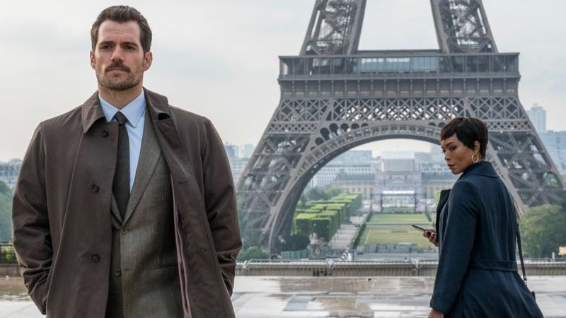 Henry Cavill and Angela Bassett in New Mission: Impossible - Fallout Photo