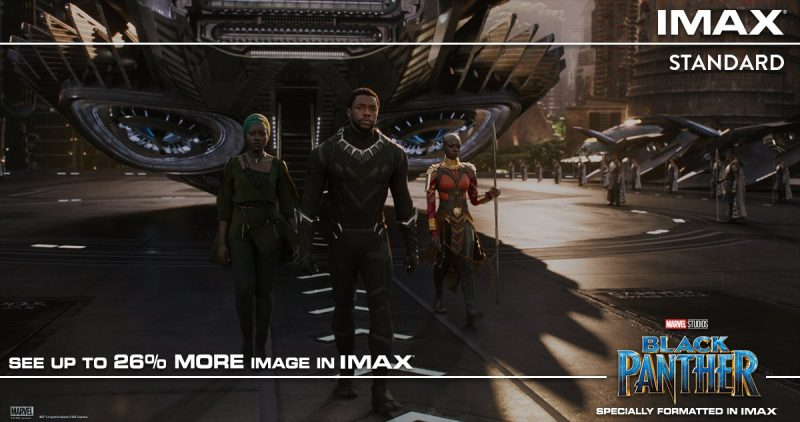IMAX announces that Black Panther has several scenes shot specifically for the format