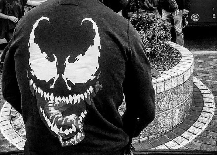 Check out a first look pic of Tom Hardy as Eddie Brock in Venom