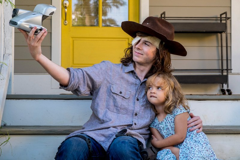See Carl in Photos from The Walking Dead Midseason Premiere