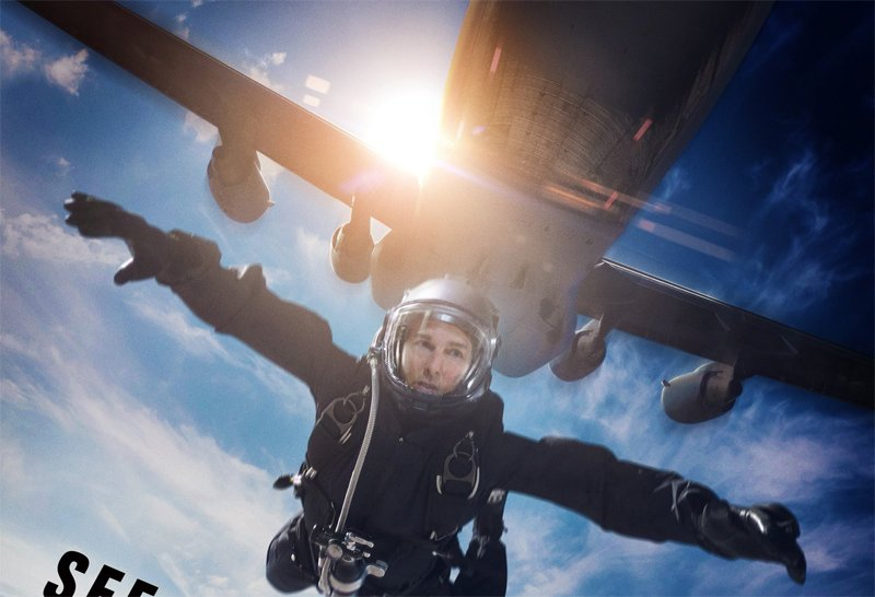 Tom Cruise Jumps Out of a Plane in M:I - Fallout RealD Poster