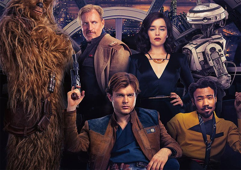 New Solo International Poster Kicks Back With the Cast