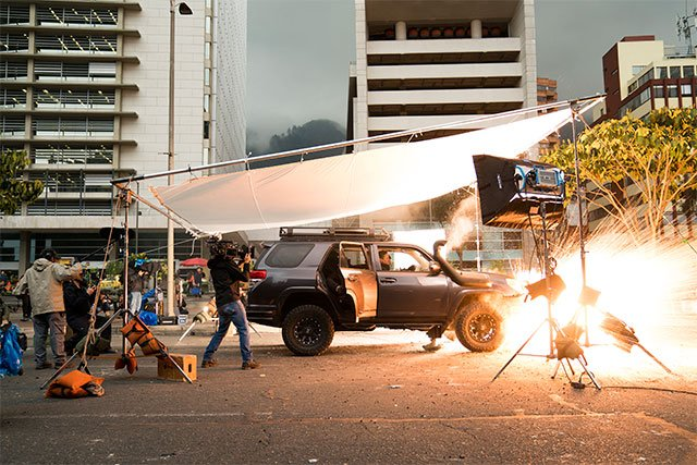 Mile 22 Set Visit With Peter Berg & Co  in Bogota, Colombia