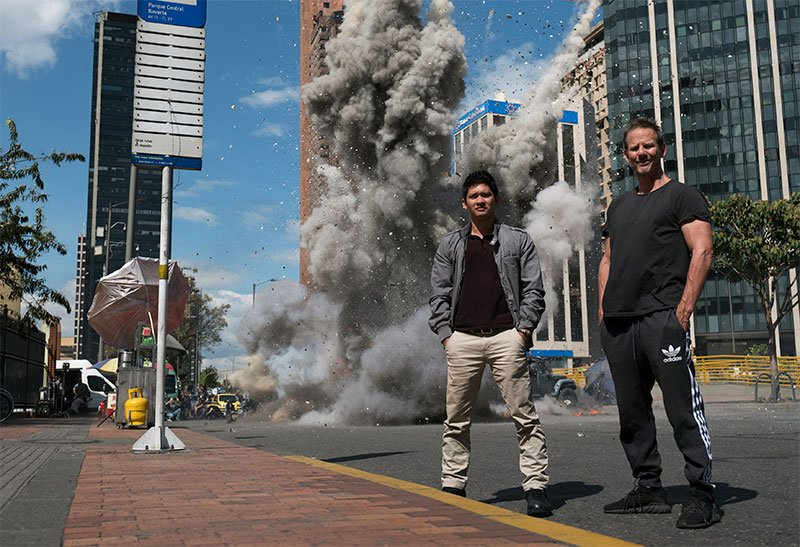 Mile 22 Set Visit With Peter Berg & Co. in Bogota, Colombia
