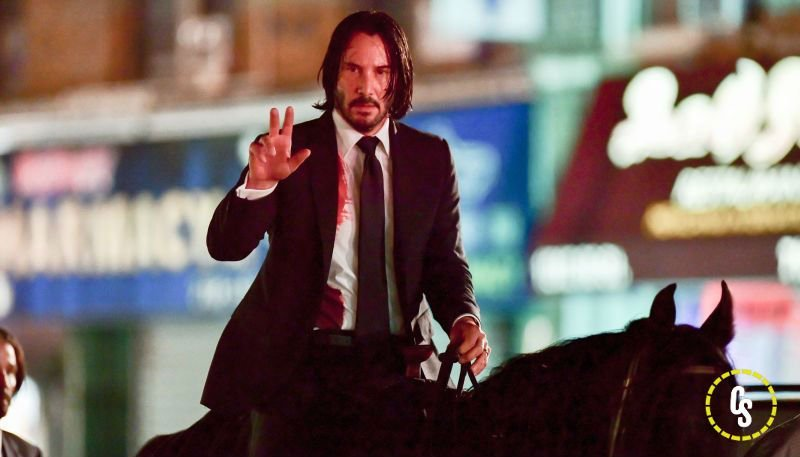 John Wick 3 Set Video and Photos Show Keanu Riding a Horse