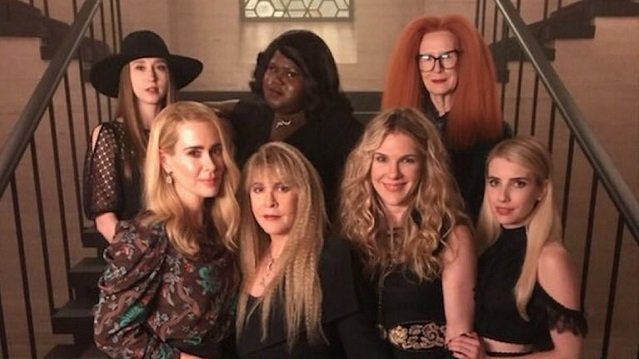 AHS: Apocalypse: Coven Cast Reunites on Set