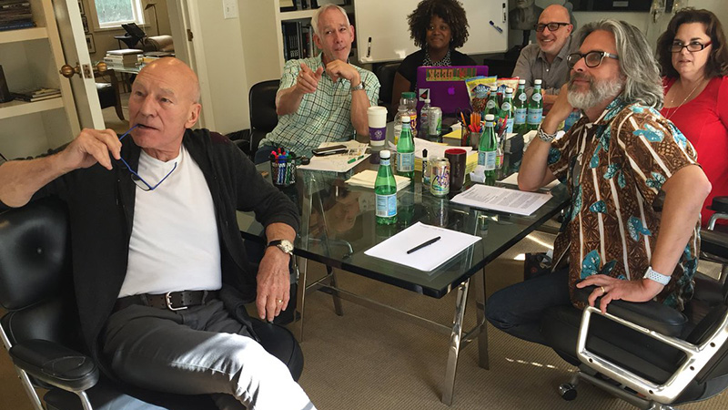 Patrick Stewart Shares Picture From Captain Picard Series Writer's Room