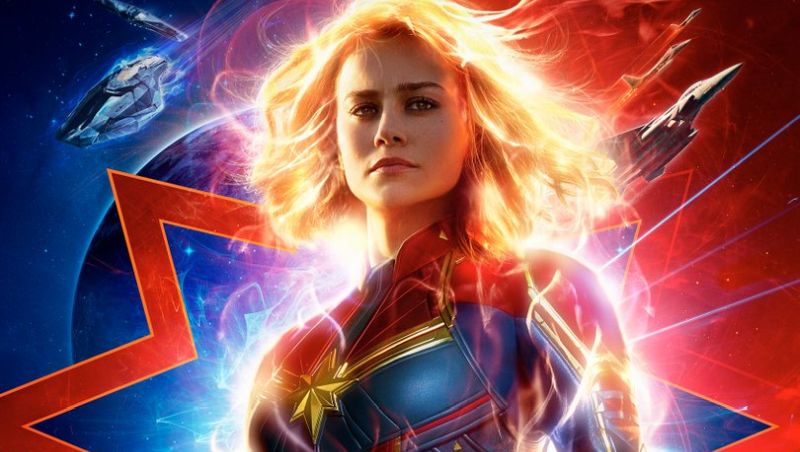 The new poster for Captain Marvel glows brightly
