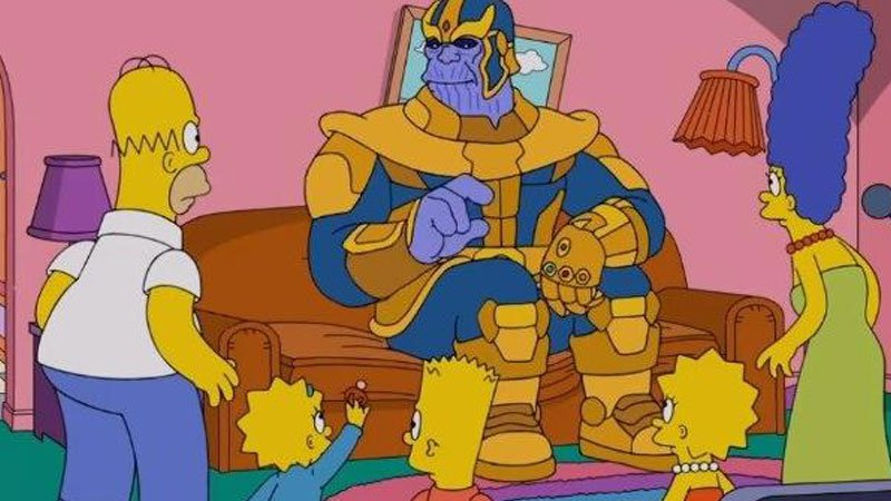 Thanos pays a visit to The Simpsons