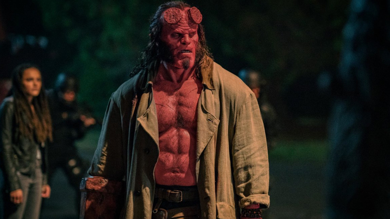 Hellboy gets ready for demon hunting