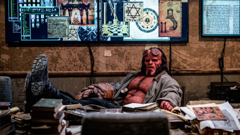 Hellboy unleashes four new photos
