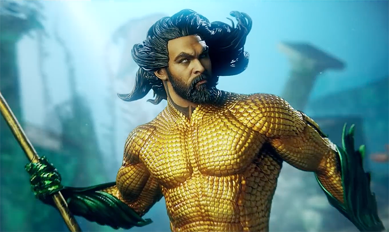 Sideshow Aquaman Statue Earns James Wan's Praises in Video