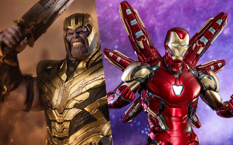 Avengers Endgame Release Date Pinterest: First Avengers: Endgame Hot Toys Tout Iron Man & Thanos