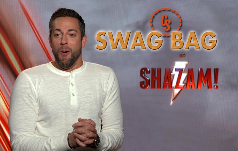 CS Swag Bag With Zachary Levi and the Shazam Cast!