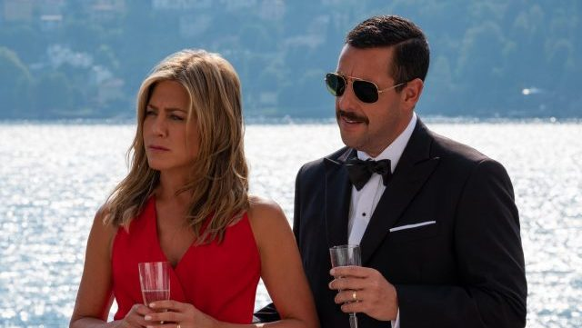 Adam Sandler & Jennifer Aniston Reunites in New Murder Mystery Photos