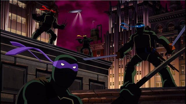 Our Heroes Suit Up in New Batman vs. Teenage Mutant Ninja Turtles Clips