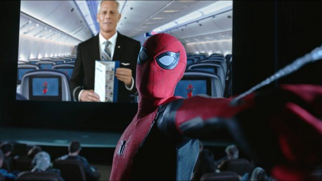 Spider-Man and Friends Appear in United Airlines Safety Video