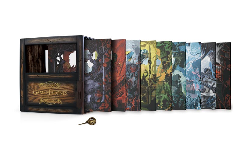GAME OF THRONES Getting a Beautiful Complete Series Shadow Box Set