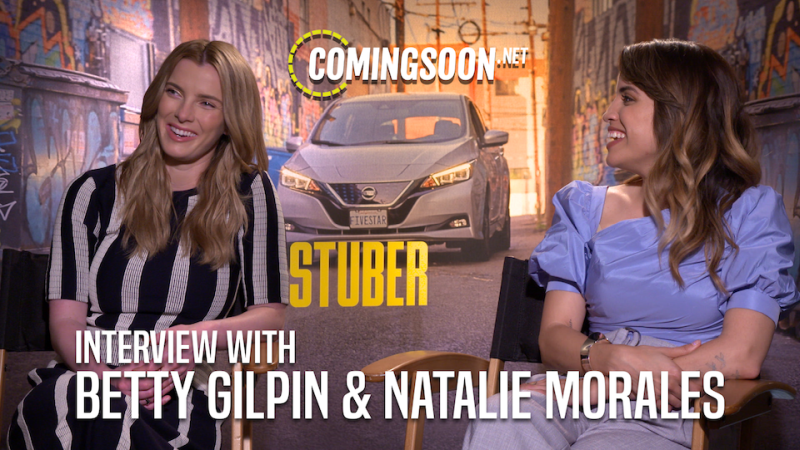 CS Video: Stars Betty Gilpin & Natalie Morales Talk Stuber Improv
