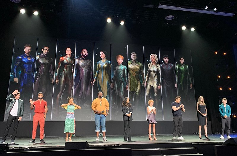 New The Eternals Set Photos Feature Cast in their Full Costumes