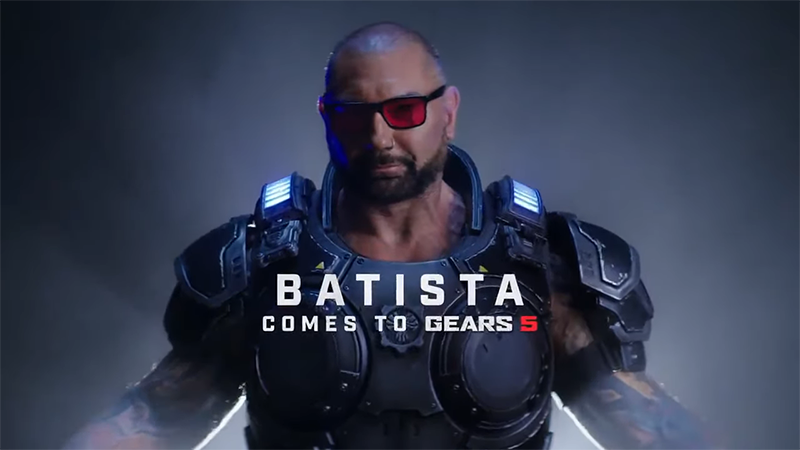 Dave Bautista will be a playable character in Gears 5