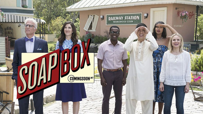 CS Soapbox: The Good Place Is NBC's Most Depressing Comedy Ever (In A Good Way)