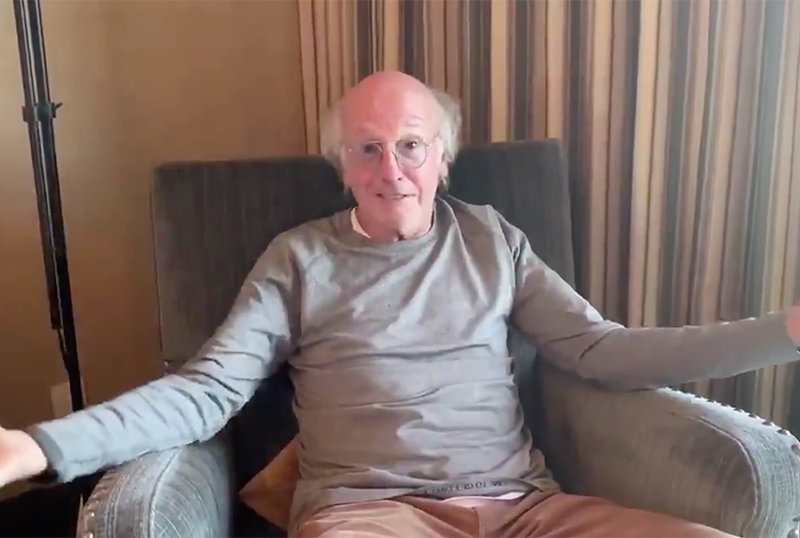 Curb Your Enthusiasm's Larry David Offers Stay-At-Home PSA