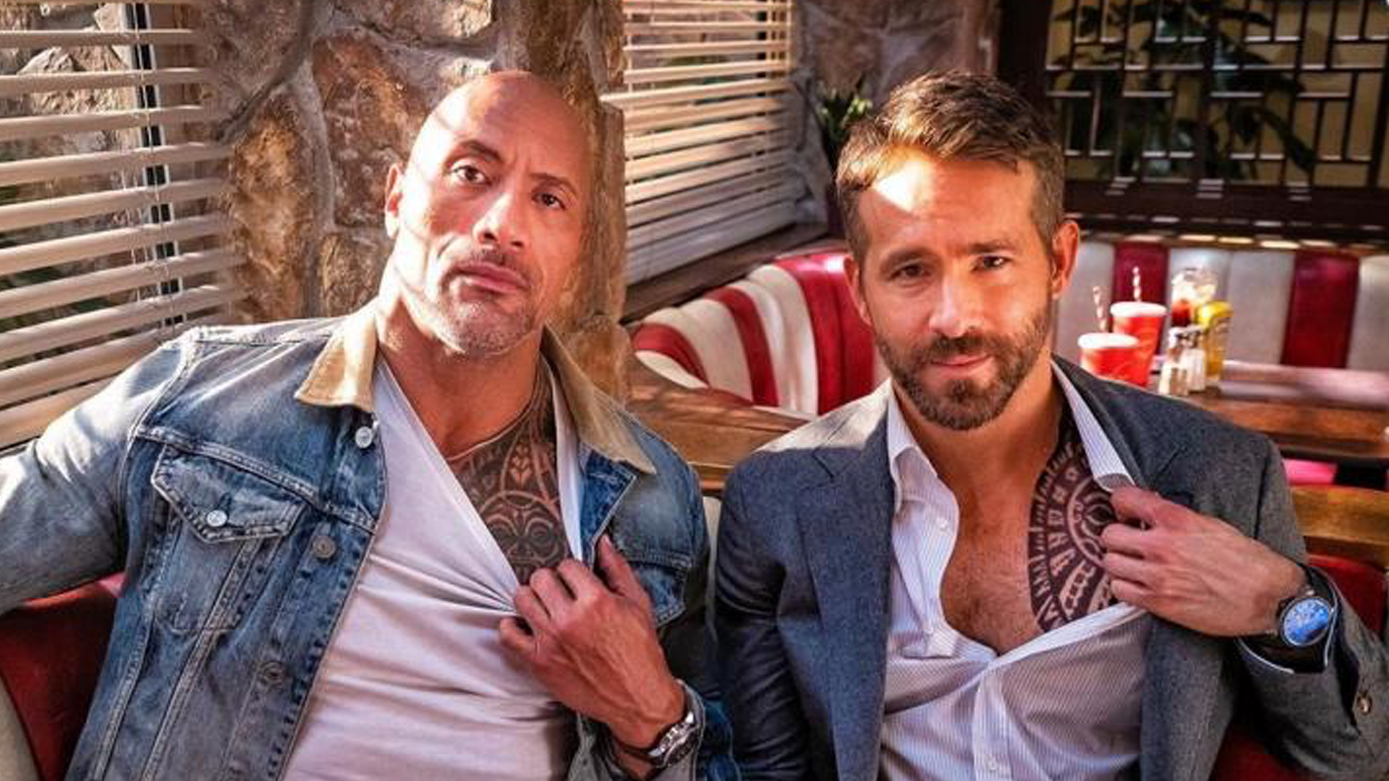 Ryan Reynolds Shares New Photo of Dwayne Johnson in Red Notice