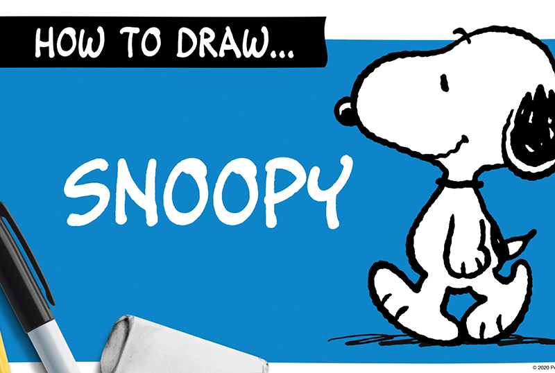 Peanuts Worldwide Offering Tutorial Videos on How To Draw Snoopy!