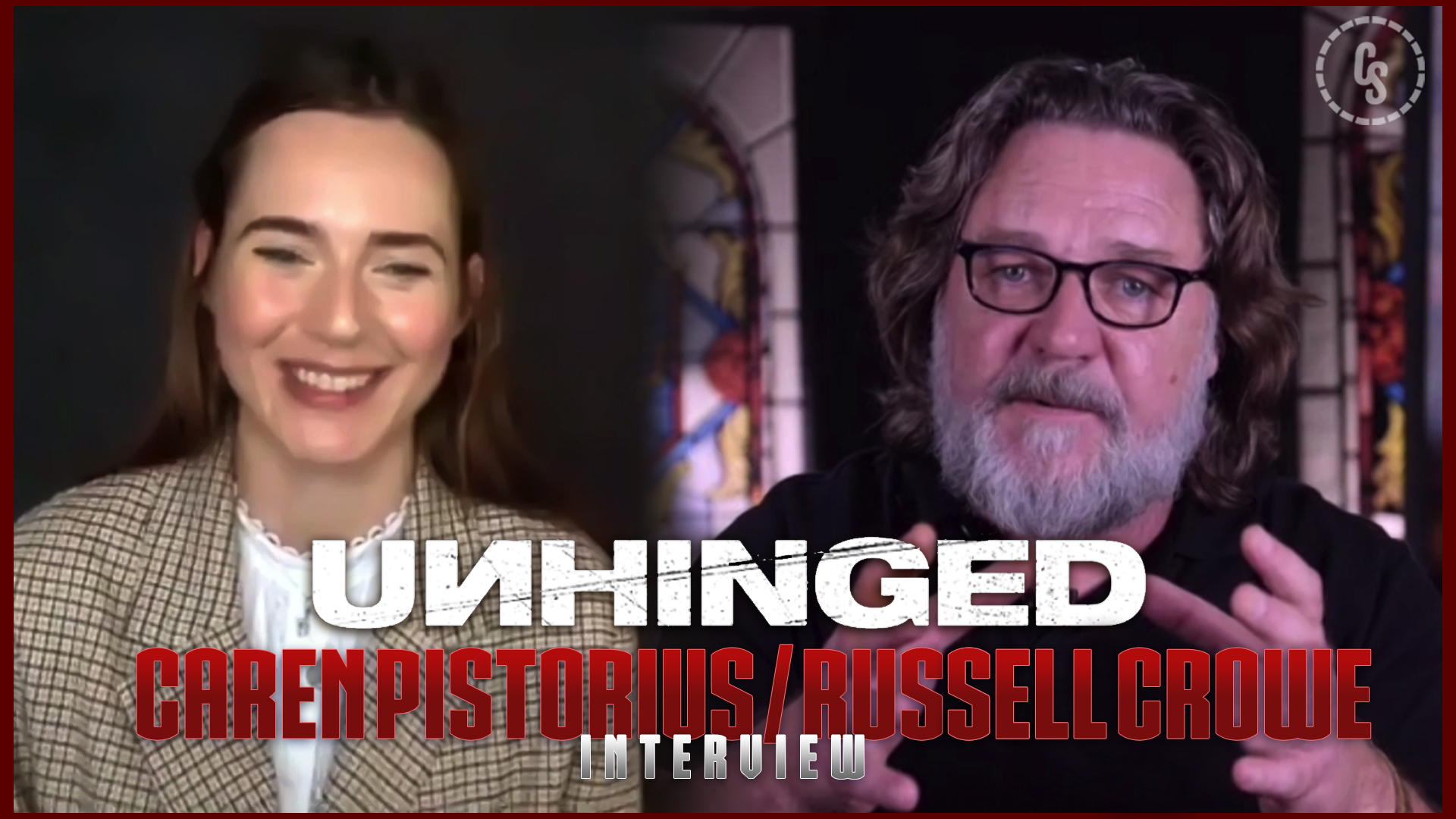 CS Video: Unhinged Interviews With Caren Pistorius & Russell Crowe