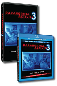 Paranormal Activity 3 (Unrated Director's Cut) on DVD Blu-ray today