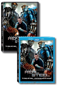 Real Steel on DVD Blu-ray today