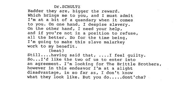 Snippet from the Django Unchained script