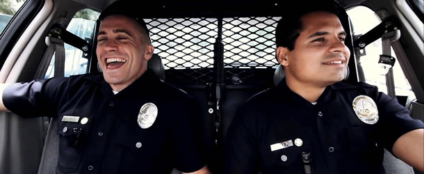 Jake Gyllenhaal and Michael Pena in End of Watch