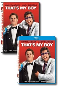 That's My Boy on DVD Blu-ray today