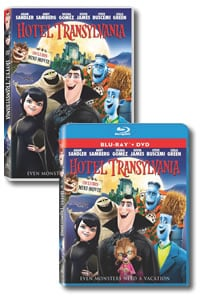 Hotel Transylvania on DVD Blu-ray today