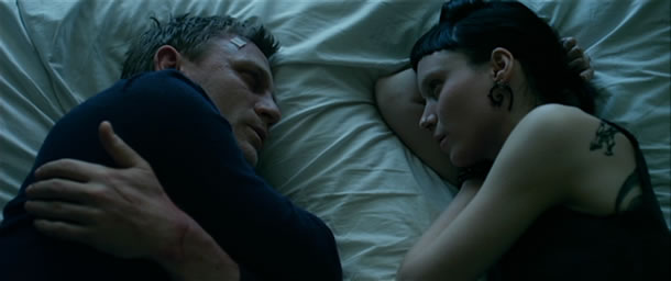 Daniel Craig and Rooney Mara in The Girl with the Dragon Tattoo
