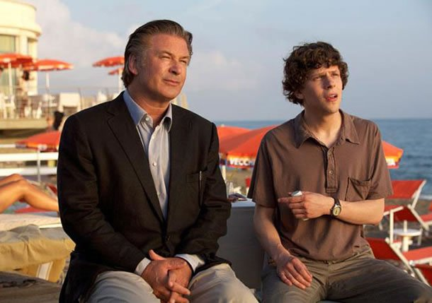 Alec Baldwin and Jesse Eisenberg in To Rome with Love